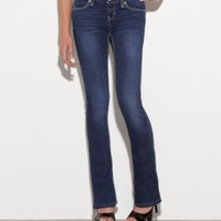 G by GUESS Women's Sophie Skinny Bootcut Jeans, DARK WASH (24)