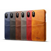 Leather Apple iPhone X Case With Card Cases