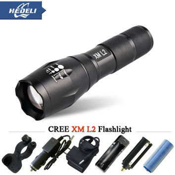 Zoomable lantern CREE XM L2 T6 powerful Led Flashlight 3800Lumens Waterproof Led Torch for 3xAAA or 18650 Camping electric torch