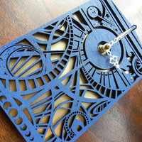 Dr Who Timey Wimey Tardis Clock by UnicornEmpirePrints on Etsy