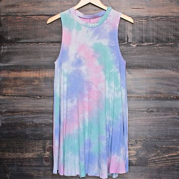 To Dye For T-Shirt Tank Dress in Purple Tie Dye