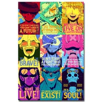 One Piece Strong World Anime Art Silk Fabric Poster Print 12x18 24x36 inches Monkey D Luffy Zorro ACE Wall Pictures 001