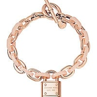 Michael Kors Chain Link Pad Lock Toggle Bracelet