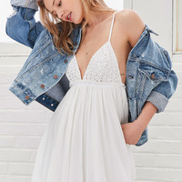 Kimchi Blue Barbados Babydoll Romper   Urban Outfitters