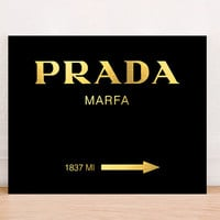 Prada Marfa Fashion Art Print Poster Gold Foil Instant Download, Fashion Art Print,  Fashion Wall Decor, Gossip Girls Prada Poster