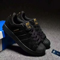 Adidas Superstar Casual Running Sport Shoes Sneakers Black I-CSXY