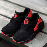 """""""NIKE""""AIR Huarache Running Sport Casual Shoes Sneakers red-black-white"""