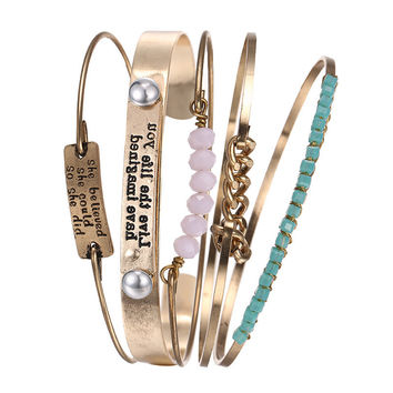 New Arrival Jewelry Shiny Stylish Crystal Vintage Metal Bangle [10825998598]