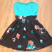 Target Floral Cotton Knit Sweetheart Dress