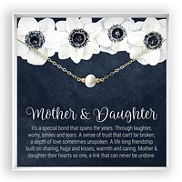 Mother & Daughter  Pearl Necklace