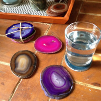 Set of 4|Brazilian Geode Coasters
