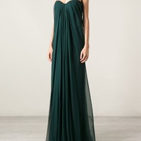 Alexander Mcqueen Draped Evening Dress - Luisa World - Farfetch.com