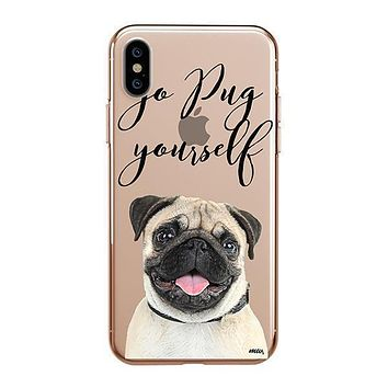 Go Pug Yourself - iPhone Clear Case