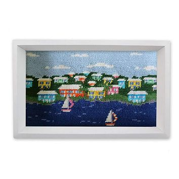 Island Time Needlepoint Valet Tray by Smathers & Branson
