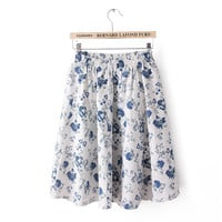 New Summer skirts womens Floral Short skirt Female Fashion Bohemia Plus Size Colorful Faldas Hot  72423 SM6