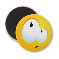 Confused Smile Fridge Magnets from Zazzle.com