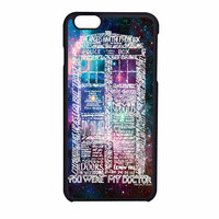 Word Art Tardis Doctor Who In Galaxy iPhone 6 Case