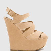 Lala Wedges - Nude