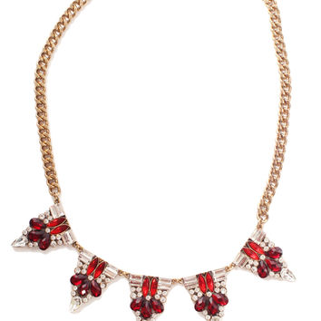 merry berry crystal necklace