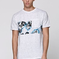 On The Byas Noisy Floral Panel Pocket T-Shirt - Mens Tee - White