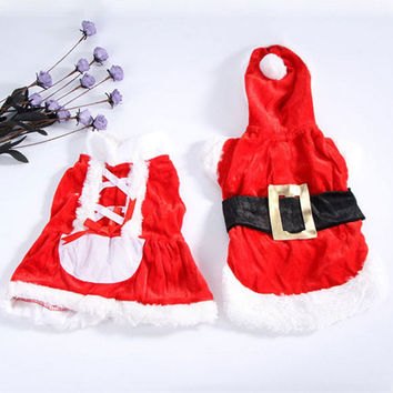 New Santa Dog Costume Christmas Pet Clothes Winter Hoodie Coat Clothes for Dog Pet clothing dress Hoodie