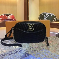 lv louis vuitton women leather shoulder bags satchel tote bag handbag shopping leather tote 92