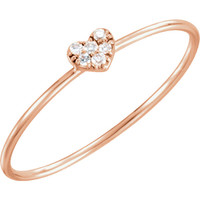 14kt Rose Gold .03 CTW Diamond Petite Heart Ring