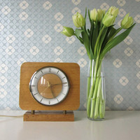 Vintage Electric Wooden Clock made by NUFA in the Netherlands