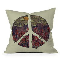 Hector Mansilla Peaceful Landscape Throw Pillow