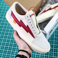 Off White X Revenge X Storm Pop Up Store White Red Shoes - Best Online Sale