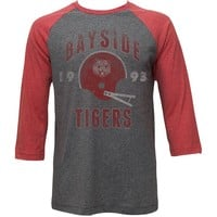 Saved By The Bell Men's Bayside Tigers Baseball Jersey XX-Large Arctic Gray/Rusty Re