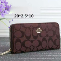 COACH Zipper Women Leather Purse Wallet