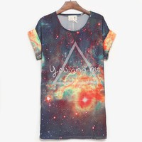 You And Me Galaxy Loose Batwing T-shirt