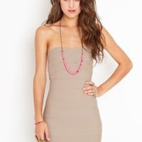 Sweetly Bound Dress - Taupe in Clothes Dresses at Nasty Gal
