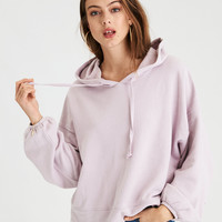 AE Drop Shoulder Balloon Sleeve Hoodie, Lively Lilac