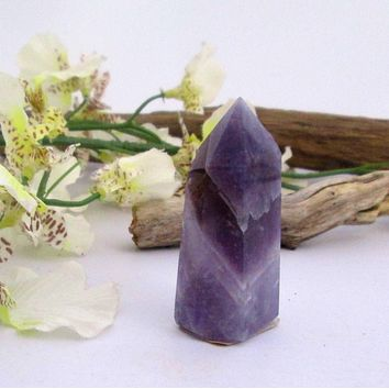 """Self Discovery"" Chevron Amethyst Point"