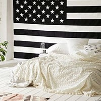 Shopnelo Home Special Popular Handicrafts American Flag Intricate Floral Design Indian Bedspread Magical Thinking Tapestry ,Bedroom special 54x84 Inches,
