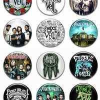 "Set of 12 New Pierce the Veil 1.25"" Pinback Button Badge Pin"