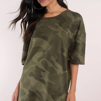 Can't Find Me Camo Shift Dress