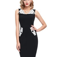 Women sheath Dress Occident style 2017 Slim Fit Sleeveless Black Tunic Casual Party Pencil sexy Bodycon work office Dress