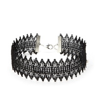 Scalloped Crochet Choker - Women - New Arrivals - 1000178425 - Forever 21 EU English