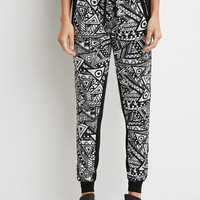 Abstract Geo Print Joggers