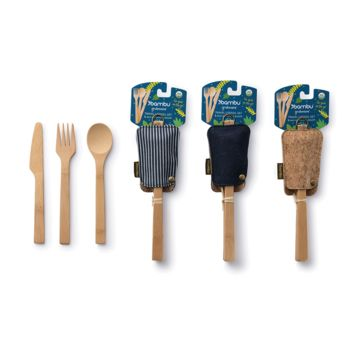 Travel Utensil Set with Eco-Conscious Pouch
