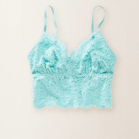 Aerie Lace Long Line Bralette, Prime Lime | Aerie for American Eagle