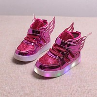 2017 Hot SALE Children Shoes With Light Popular in Europe Boys Shoes Autumn Winter Girls Cartoon Sneakers Kids Led Sport Shoes