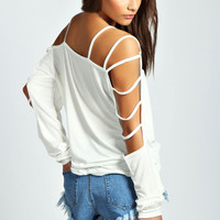Sophie Strappy Sleeve Loose Fit Top