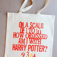 Harry Potter Obsession Canvas Tote Bag