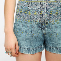 Urban Outfitters - Staring At Stars Embroidered Chambray Short