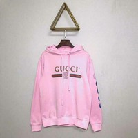 Gucci 18 early autumn when new side letter Cheung Long heavy industry embroidery hooded sweater 009
