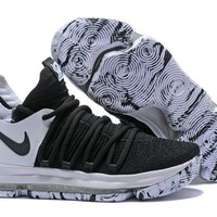 Nike Zoom Kd10 White/black Basketball Shoe